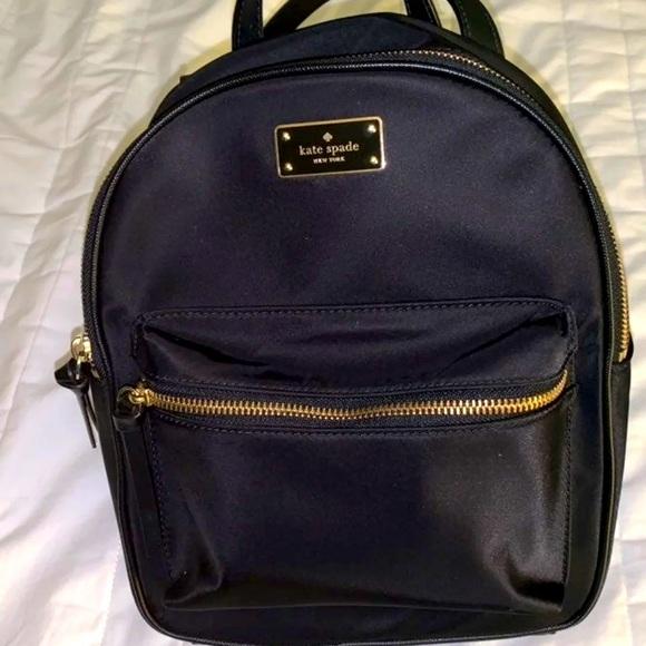 Black Kate spade small backpack